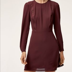 Aritzia red long sleeve dress